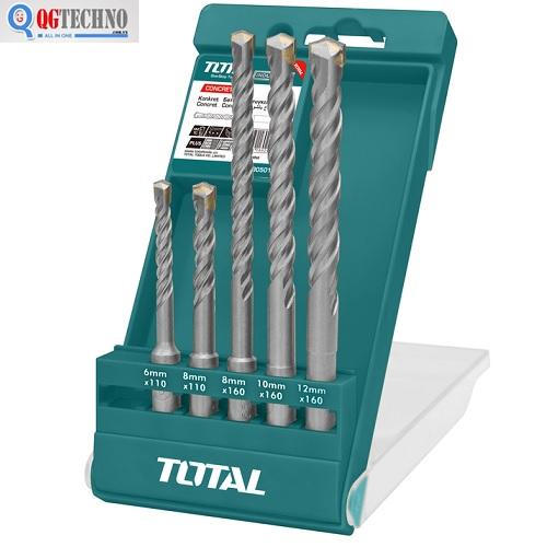 Bộ mũi khoan 5 chi tiết khoan bê tông Total TAC190501