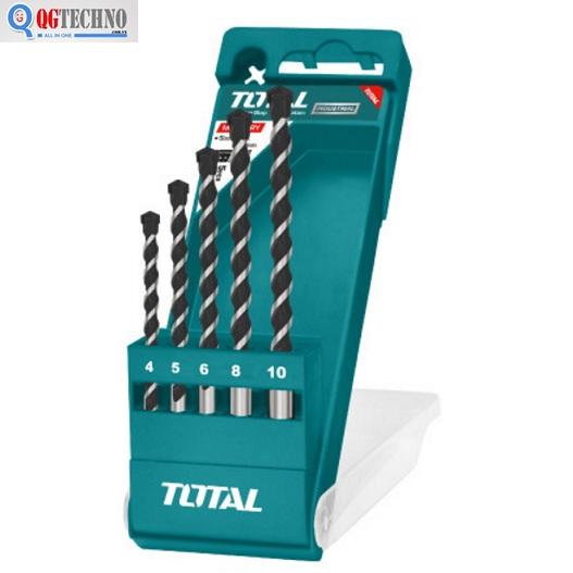 Bộ mũi khoan 5 chi tiết khoan bê tông Total TACSD5051