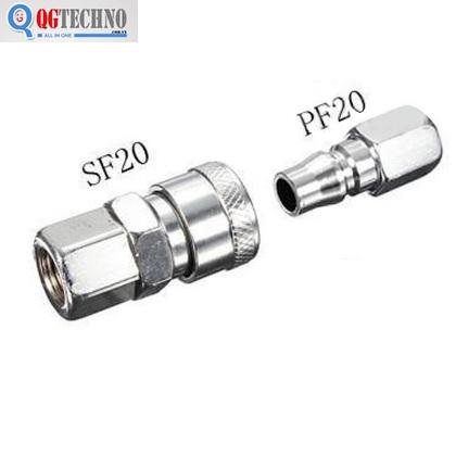 Bộ đầu nối nhanh ống hơi khí nén bằng thép Dannio 20SF+20PF