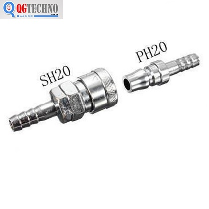 Bộ đầu nối nhanh ống hơi khí nén bằng thép Dannio 20SH+20PH