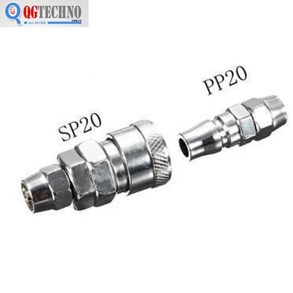 Bộ đầu nối nhanh ống hơi khí nén bằng thép Dannio 20SP+20PP