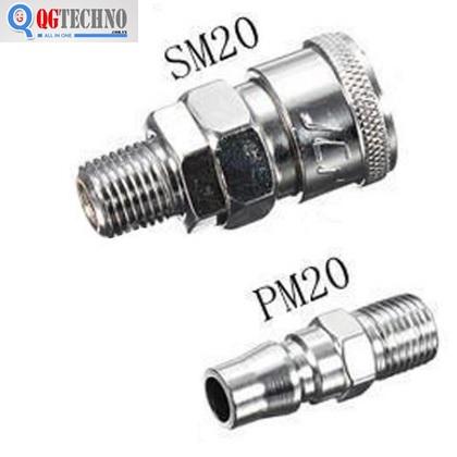 Bộ đầu nối nhanh ống hơi khí nén bằng thép Dannio 20Sm+20PM