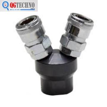 Bộ đầu nối nhanh chia 2 đầu ống hơi khí nén bằng thép Dannio