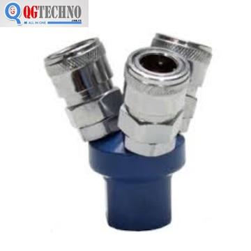 Bộ đầu nối nhanh chia 3 đầu ống hơi khí nén bằng thép Dannio