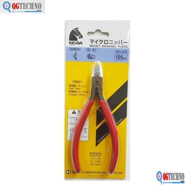 125mm Kìm cắt mạch điện tử Nhật Bản Keiba MN-A05