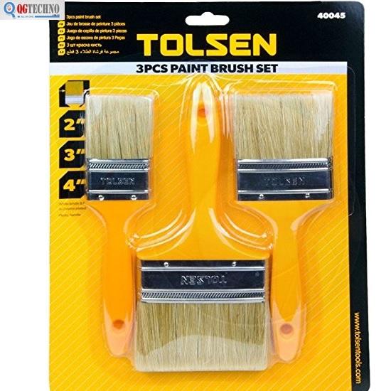 Bộ cọ sơn cán gỗ 3 chi tiết Tolsen 40045