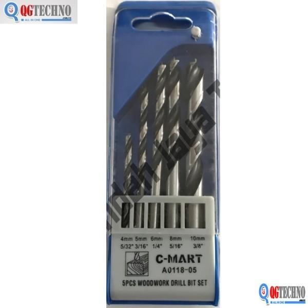 Bộ mũi khoan gỗ 5 chi tiết A0118-05 C-MART