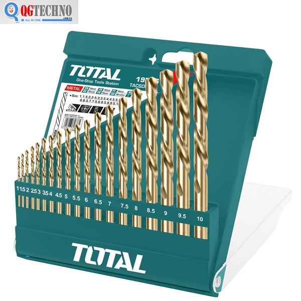 Bộ mũi khoan kim loại 19 chi tiết Total TACSD0195